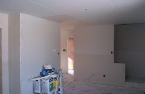 Finished drywalling